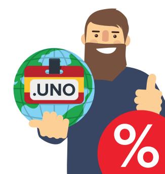 Покорите мир с испанским доменом .UNO за 399 рублей!
