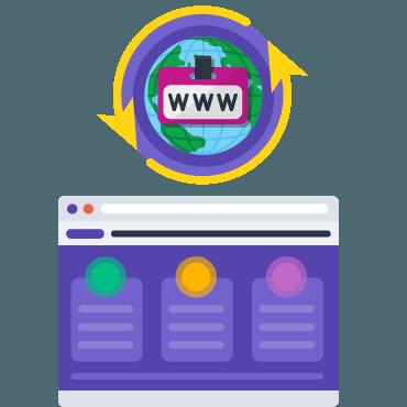 Создайте сайт на временном домене от REG.SITE